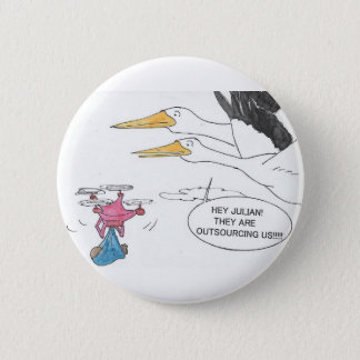 Here Comes Baby 2 Inch Round Button