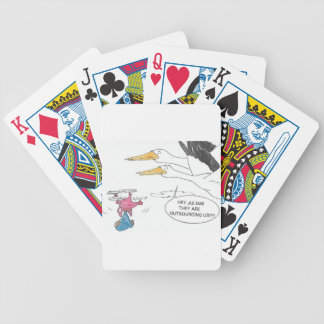 Here Comes Baby Bicycle Playing Cards