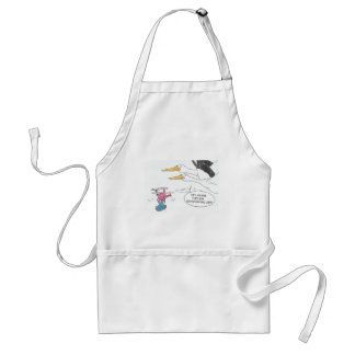 Here Comes Baby Standard Apron