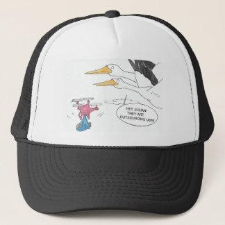 Here Comes Baby Trucker Hat