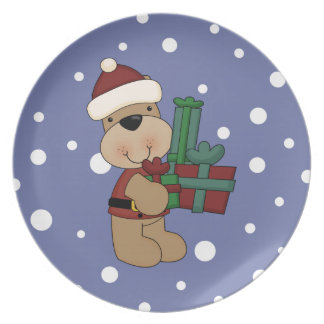 Here Comes Christmas Bear Party Plates