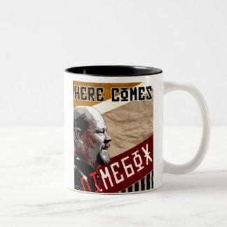 """Here Comes """"DimeBox"""" mug"""