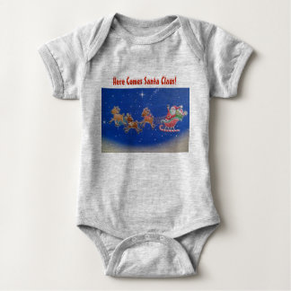 """Here Comes Santa Claus"" Baby Body Suit Baby Bodysuit"