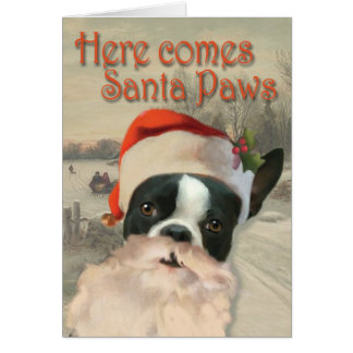 Here Comes Santa Paws Card