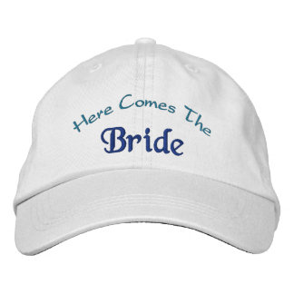 Here Comes The Bride Embroidered Hats