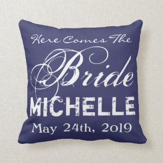 here comes the bride throw pillow