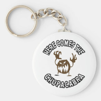 Here comes the chupacabra basic round button keychain