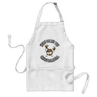 Here comes the chupacabra standard apron