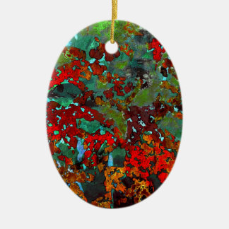 Here comes the colour ceramic ornament