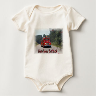 Here Comes The Fire Truck. Baby Bodysuit