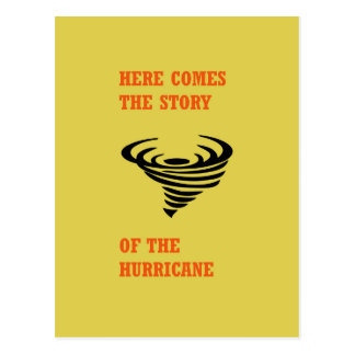 Here comes the story of the hurricane postcard