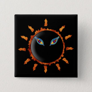 Here Comes The Sun 2 Inch Square Button