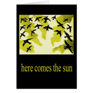 here comes the sun-card card