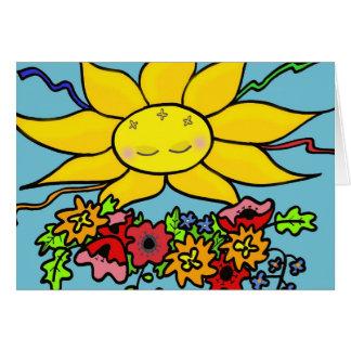 Here Comes the Sun Ukrainian Folk Art Card