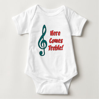 Here Comes Treble Baby Bodysuit