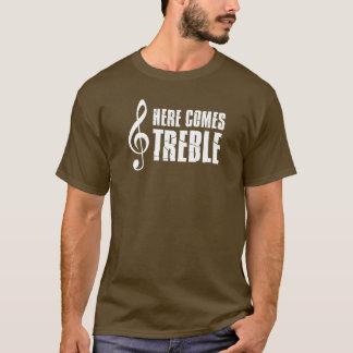 Here Comes Treble Funny Music Pun T-Shirt