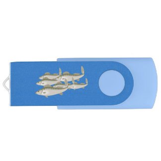 """Here Fishy Fishy"" Fish Fishing Angler Angling USB Flash Drive"