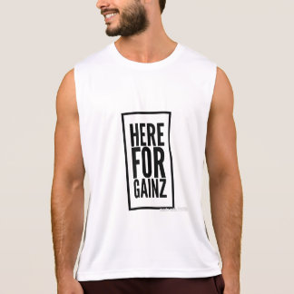 here for gainz tank top
