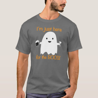 Here For The Boos Halloween Drinking Shirt