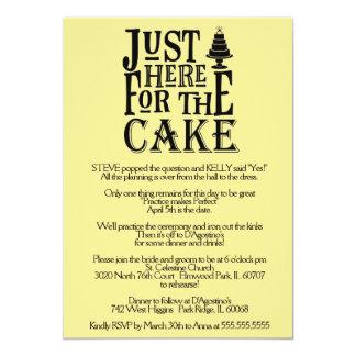 Here for the Cake Rehearsal Dinner Invitation