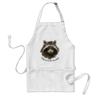 Here for the Chocolate, Funny Quote, Raccoon, Cute Standard Apron