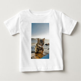"""Here I am"" says the Cat Baby T-Shirt"