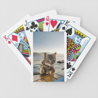 """""""Here I am"""" says the Cat Bicycle Playing Cards"""