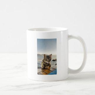"""Here I am"" says the Cat Coffee Mug"