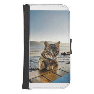 """""""Here I am"""" says the Cat Samsung S4 Wallet Case"""