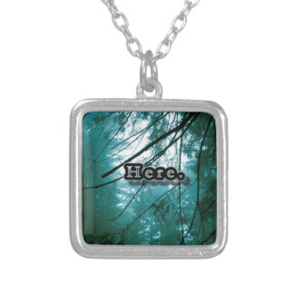 Here in the Forest Silver Plated Necklace