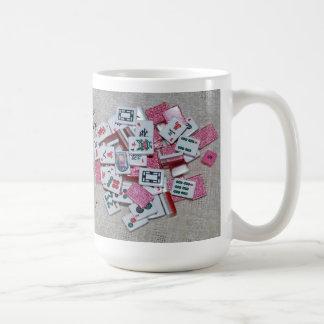Here...Joker, Joker!!Pink glitter tiles on beige Coffee Mug