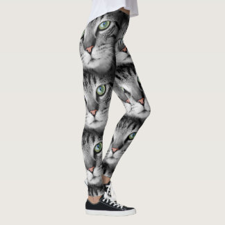 Here Kitty Cat Leggings Running Exercise Women's