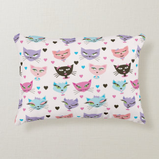 Here Kitty Kitty Cotton Pillow