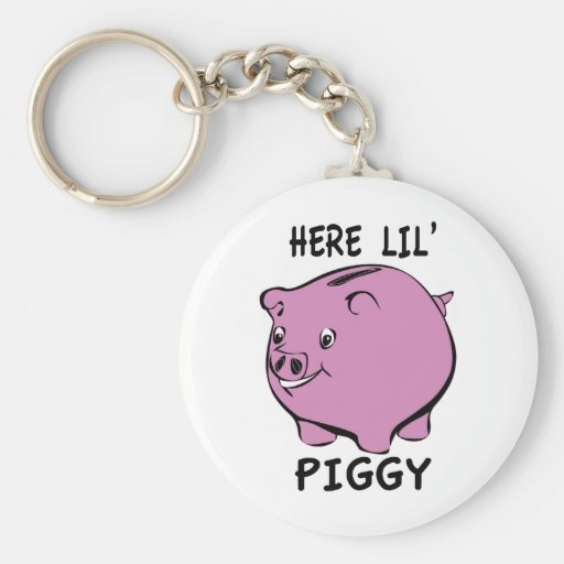 Here Lil Piggy Key Chains
