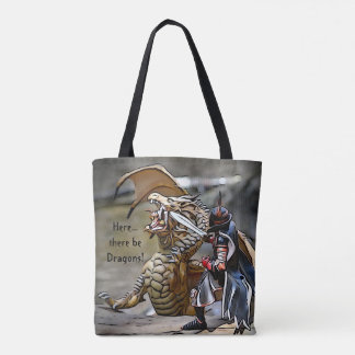 Here There Be Dragons Tote