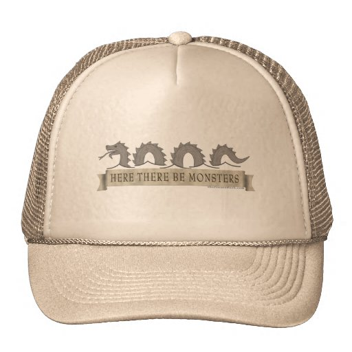 Here There Be Monsters Hat