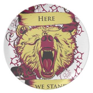 here we stand, cute monkey plate