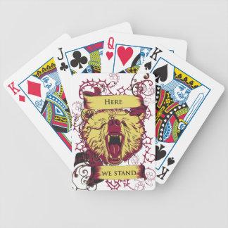 here we stand, cute monkey poker deck