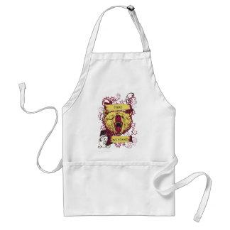 here we stand, cute monkey standard apron