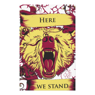 here we stand, cute monkey stationery design