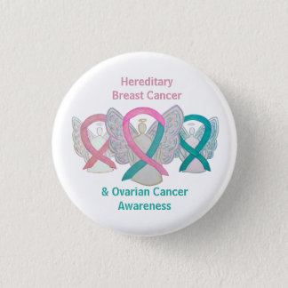 Hereditary Breast & Ovarian Cancer Angel Buttons
