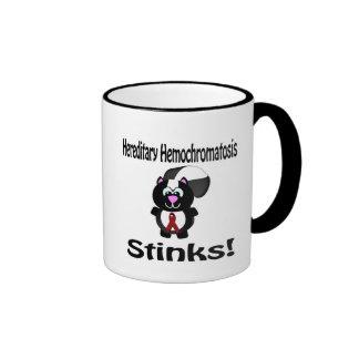 Hereditary Hemochromatosis Stinks Skunk Awareness Ringer Coffee Mug