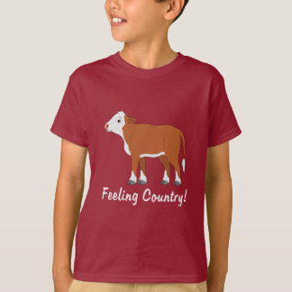 Hereford Calf: Feeling Country T-Shirt