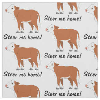 Hereford Calf: Steer me Home Fabric