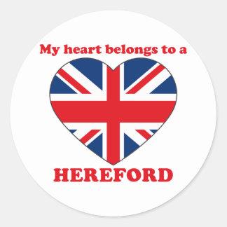 Hereford Classic Round Sticker