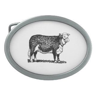 Hereford Cow Belt Buckle