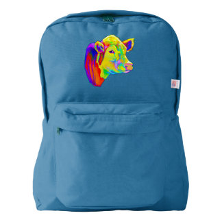 Hereford Cow in Colors Backpack
