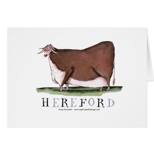 hereford cow, tony fernandes greeting cards