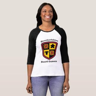 Herefordshire Board Gamers ladies baseball T-shirt