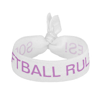 Here's a cute hair tie for your softball queen!